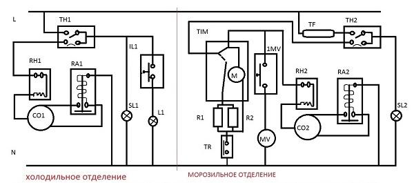 Схема холодильника самсунг rl28fbsi