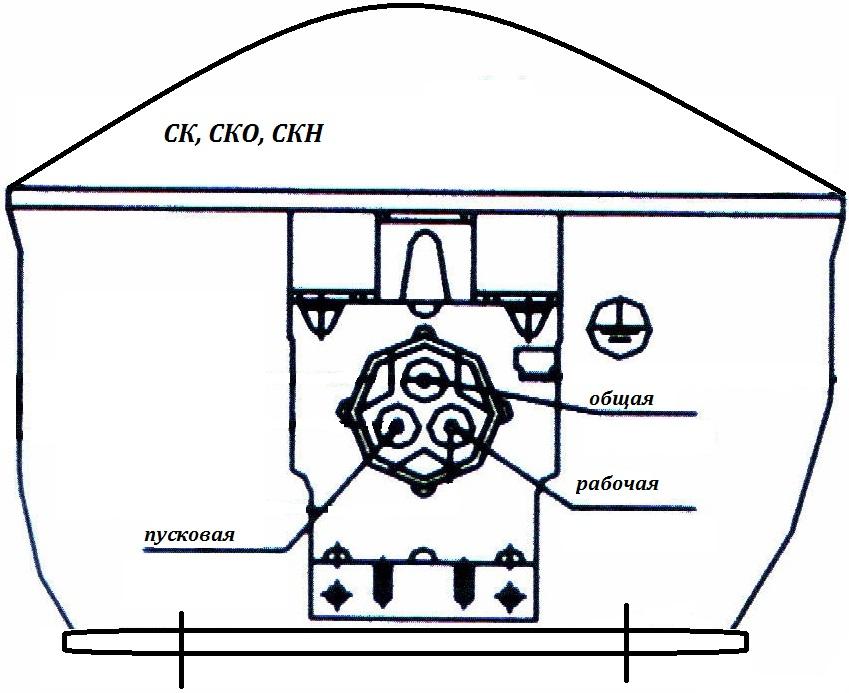 Схема подключения пускового реле холодильника.5