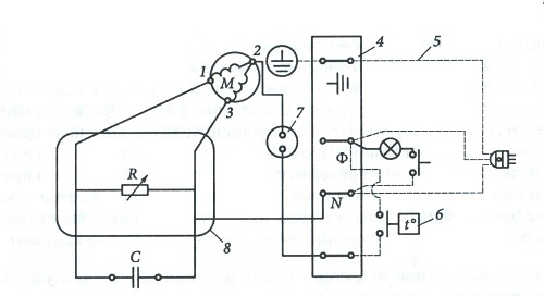 схема запуска компрессора